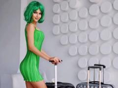 Hoa hậu Nga diện 'cây' xanh