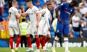 Dẫn trước 2 bàn, Chelsea vẫn không thắng được Sheffield