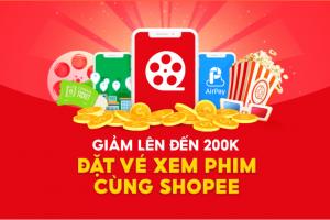 Dễ dàng nhận ngay mã giảm trực tiếp lên đến 60K khi lần đầu đặt vé xem phim trên Shopee và thanh toán bằng AirPay.